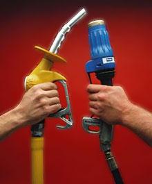 Benzin gegen Gas - auf der Kostenseite hat das Gas die Nase vorn